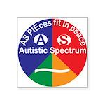 """Autism Symbol Square Sticker 3"""" X 3"""""""