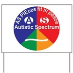 Autism symbol Yard Sign