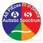 """Autism Symbol Square Car Magnet 3"""" X 3"""""""