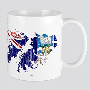 Falkland Islands Flag And Map Mug