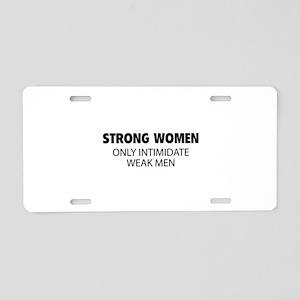 Strong Women Aluminum License Plate