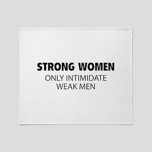 Strong Women Throw Blanket