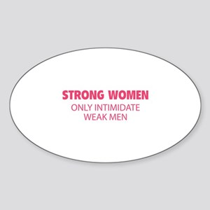 Strong Women Sticker (Oval)