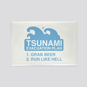Tsunami Evacuation Plan Rectangle Magnet