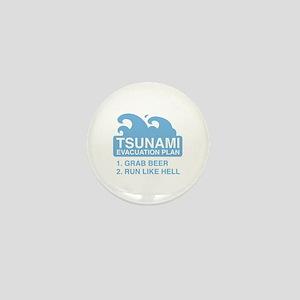 Tsunami Evacuation Plan Mini Button