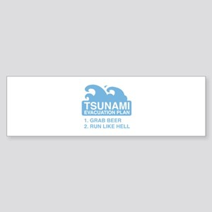 Tsunami Evacuation Plan Sticker (Bumper)