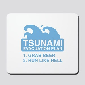 Tsunami Evacuation Plan Mousepad