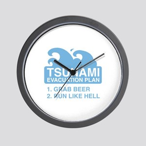 Tsunami Evacuation Plan Wall Clock