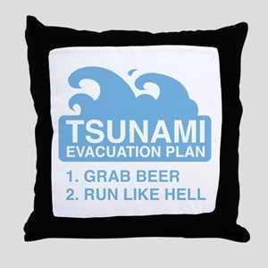 Tsunami Evacuation Plan Throw Pillow