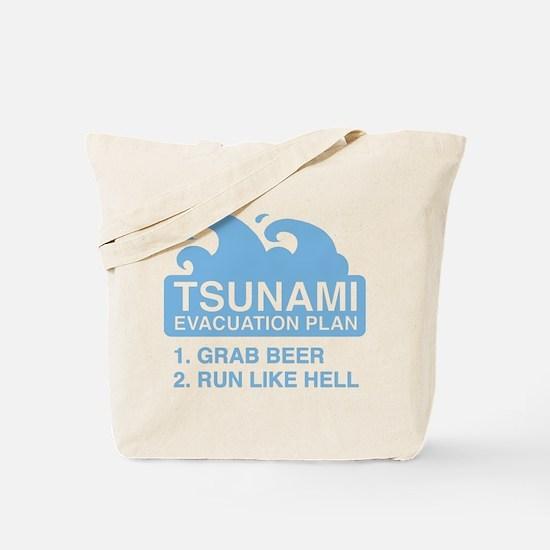 Tsunami Evacuation Plan Tote Bag