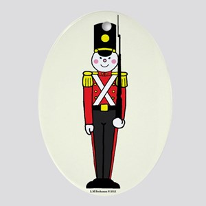Toy Soldier in Red and Black Ornament (Oval)