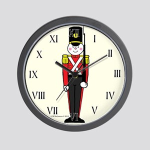 Toy Soldier in Red and Black Wall Clock