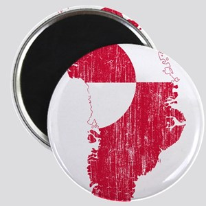 Greenland Flag And Map Magnet