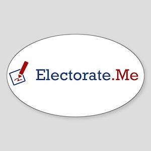 Electorate.Me Logo Sticker (Oval)