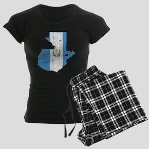 Guatemala Flag And Map Women's Dark Pajamas