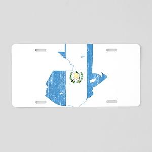 Guatemala Flag And Map Aluminum License Plate
