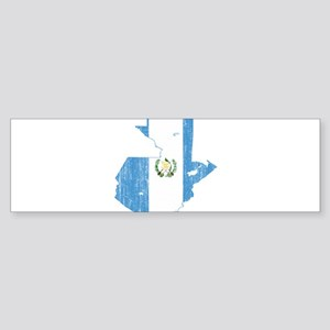 Guatemala Flag And Map Sticker (Bumper)