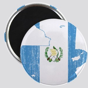 Guatemala Flag And Map Magnet