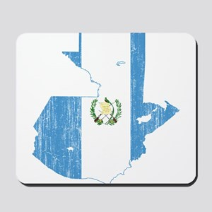 Guatemala Flag And Map Mousepad