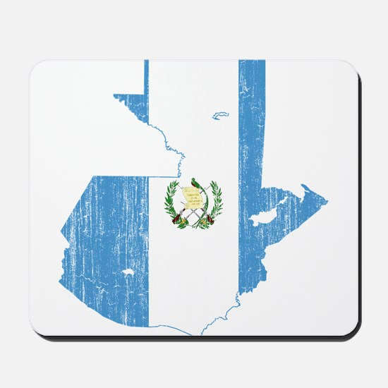 Guatemala Flag And Map Mousepad