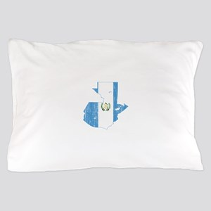 Guatemala Flag And Map Pillow Case