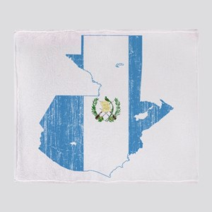 Guatemala Flag And Map Throw Blanket