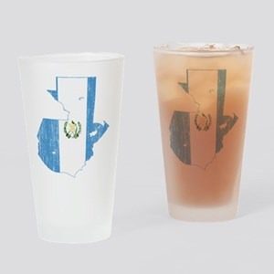 Guatemala Flag And Map Drinking Glass