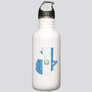 Guatemala Flag And Map Stainless Water Bottle 1.0L