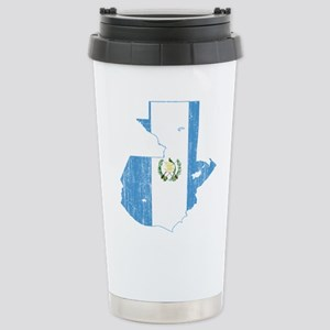 Guatemala Flag And Map Stainless Steel Travel Mug