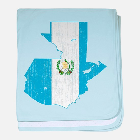 Guatemala Flag And Map baby blanket