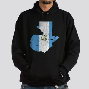 Guatemala Flag And Map Hoodie (dark)