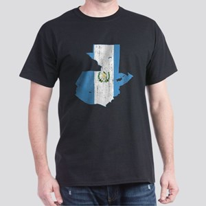 Guatemala Flag And Map Dark T-Shirt
