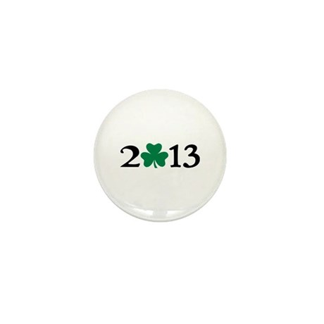 2013 shamrock Mini Button (10 pack)