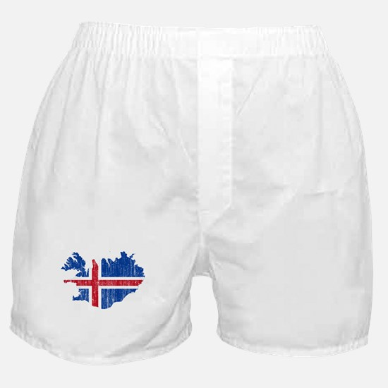 Iceland Flag And Map Boxer Shorts