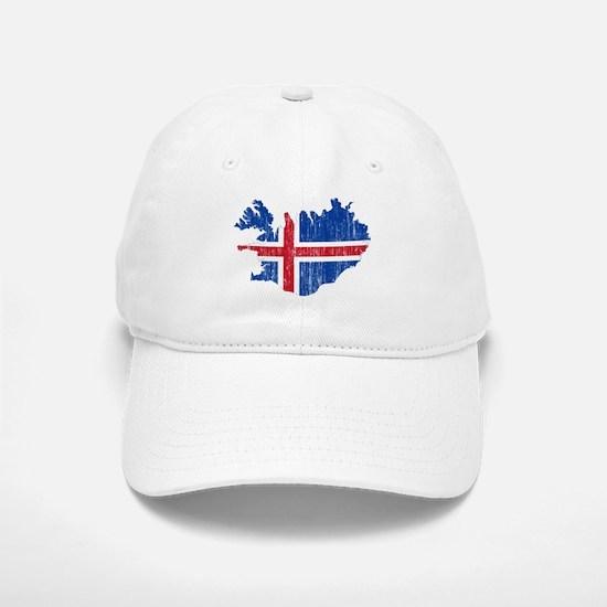 Iceland Flag And Map Baseball Baseball Cap