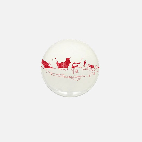 Indonesia Flag And Map Mini Button