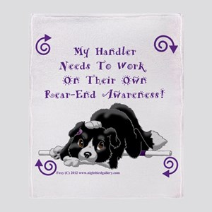 Handler Rear-end Awareness Throw Blanket