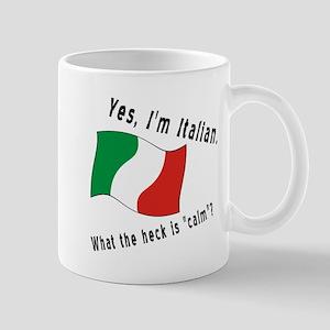 Italian Calm Black Letters Center Mug
