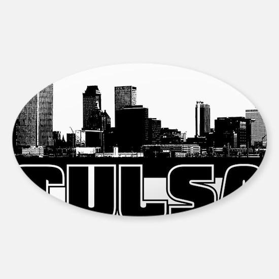 Tulsa Skyline Sticker (Oval)