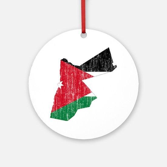 Jordan Flag And Map Ornament (Round)