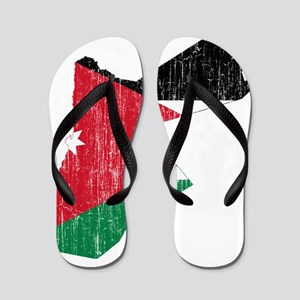 Jordan Flag And Map Flip Flops