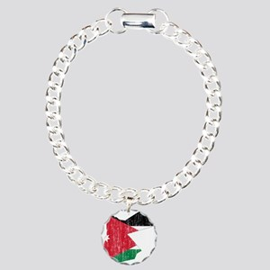 Jordan Flag And Map Charm Bracelet, One Charm