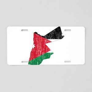 Jordan Flag And Map Aluminum License Plate
