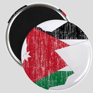 Jordan Flag And Map Magnet