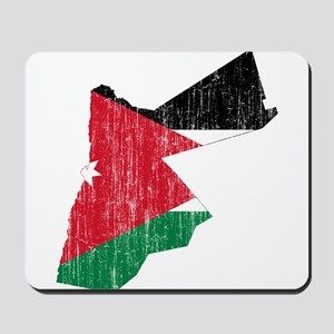 Jordan Flag And Map Mousepad