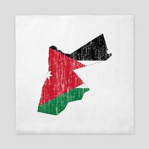 Jordan Flag And Map Queen Duvet