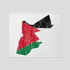 Jordan Flag And Map Throw Blanket