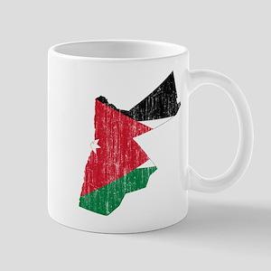 Jordan Flag And Map Mug