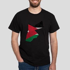 Jordan Flag And Map Dark T-Shirt