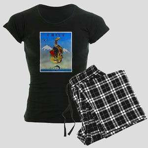 Chile Travel Poster 1 Women's Dark Pajamas